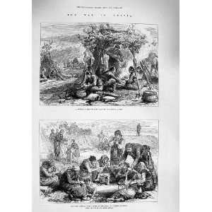 1876 War Servia Turkish Camp Starving Women Soldiers: Home & Kitchen