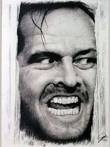 Jack Nicholson Sketch Portrait Charcoal Pencil Drawing