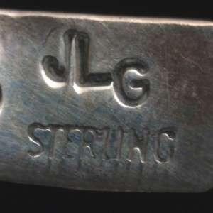 Sterling Silver Earrings 4 1/2 Long JLG Artisan Made Spiral