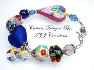 AUTISM ASPERGER Awareness LAMPWORK Bracelet Jewelry