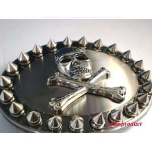 Spike Skull and Cross Bone Demon Design Belt Buckle
