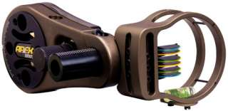 NEW TRUGLO ATOMIC SERIES 6 PIN BOW SIGHT TAN MATTE COMPACT .019