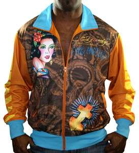 ED HARDY Christian Audigier Geisha Graffiti Mens Track Jacket Coat