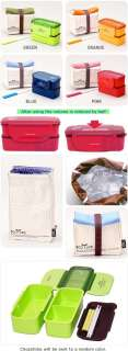 NEW Bento Lunch Box Set w/Chopstics Insulated Bag 742 8803733742085