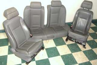 2002 BMW 745Li Gray Front & Rear Leather Seat Set 7 Series Hot Street