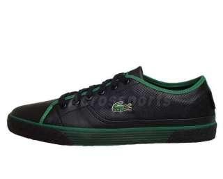 Lacoste Auvergne AL SPM Leather Black Green Mens Casual Shoes 10% OFF