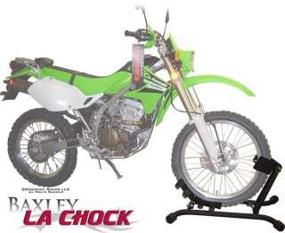 BAXLEY LA MOTORCYCLE TIRE WHEEL CHOCK HARLEY + CRUISERS
