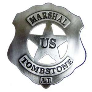 Era 2.5 Inch U.S. Marshall Tombstone Replica Badge: Sports & Outdoors