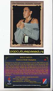 BILLY MILLS Track & Field 1995 Centennial Olympic Games CARD