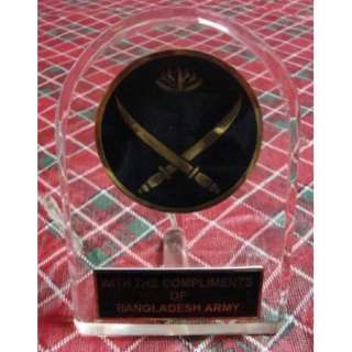 Bangladesh Army Appreciation Medal / Plaque / Award