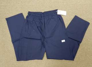 Expo Navy Blue Elastic Drawstring Uniform Scrub Bottoms Cargo Pants XS