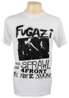 Fugazi Tour The Axiom Vtg Retro T Shirt Sz S