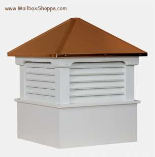 22 Azek Vinyl Cupola   Copper Roof   Weathervane Ready