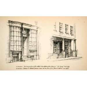 1950 Print George Hotel Michael Johnson House Lichfield