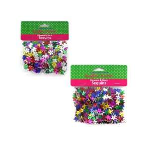 New   flower and star sequins assorted colors (assort may