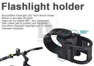 Bike Cycling 25mm Flashlight LED Torch Mount Holder 15 35mm handlebar