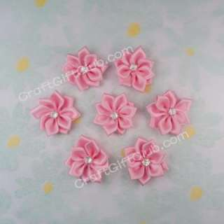 50 Pink Flower Rhinestone Bead Applique Wedding Dress