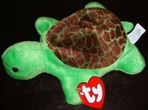 1993 SPEEDY Turtle TY Beanie Baby Plush Doll NEW w/ Tag 1st GENERATION