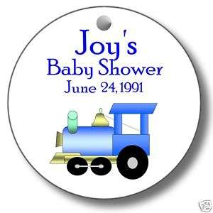 20 Round Baby Shower Personalized Favor Tags Label B
