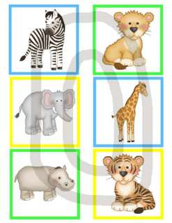JUNGLE ZOO SAFARI ANIMALS ZEBRA BABY NURSERY WALL PRINT