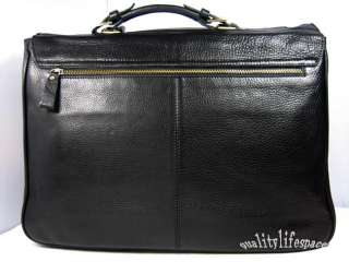 Mens Real Leather Briefcase Messenger 15Laptop Bag New