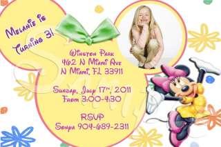 Baby Minnie Mouse Custom Birthday Invitation YOU PRINT