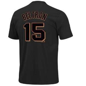 Carlos Beltran #15 San Francisco Giants Name and Number T Shirt (Black
