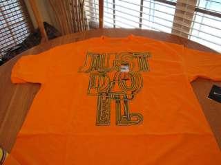 Mens Nike XL loose fit T shirt Just do it orange NEW