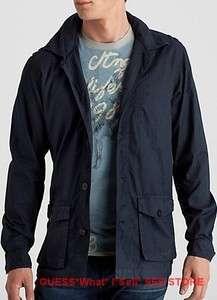 NWT $118 GUESS Mens Shirt Dress Jacket Windbreaker Top Button Up S M L