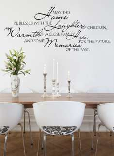 HOME BLESSED QUOTE VINYL WALL DECAL STICKER ART  DECOR 894708001205