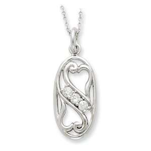 Best Friends Forever Necklace in Sterling Silver Jewelry
