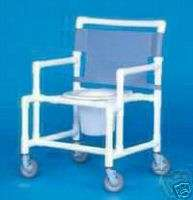SHOWER CHAIR COMMODE OVERSIZE BARIATRIC WHEELED PORTABLE