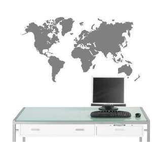 Vinyl Wall Decal Stickers World Map Graphic