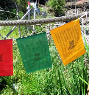 TIBETAN NUNS PROJ MED GREEN TARA BUDDHIST PRAYER FLAGS
