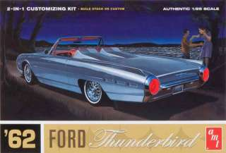 AMT 1962 FORD THUNDERBIRD 2 N 1 1/25 SCALE MODEL KIT AMT 682