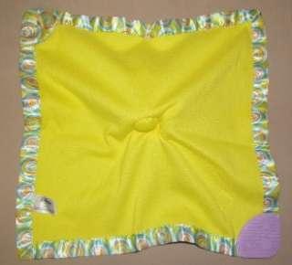 Disney WINNIE THE POOH Heffalump LUMPY Security Blanket TEETHER Yellow
