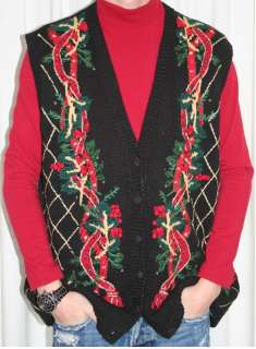 Ugly Christmas Sweater Vest Womens 18/20 )