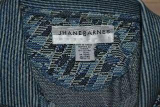 JHANE BARNES SHORT SLEEVE BLUE GREEN WHITE COTTON CASUAL POLO SHIRT