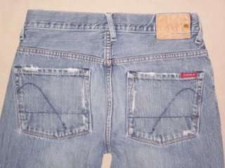 Mens 28x32.5 Guess button fly denim jeans (tag  W28 L34)