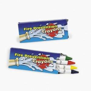 Fire Prevention Crayon Box (2 dozen)   Bulk [Toy