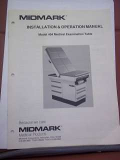 LOT OF 2 MIDMARK 404 EXAM TABLES GREAT CONDITION