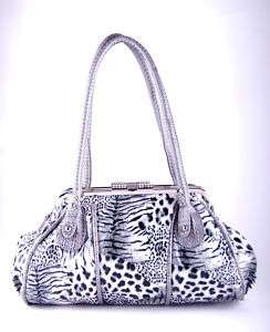 Betty ANIMAL PRINT PURSE   WHITE