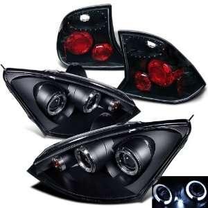 Eautolight 00 04 Ford Focus 4 Door Projector Head Lights+Tail Lights