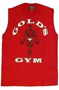 Golds Gym Sleeveless T Shirt TO logo Bodybuilding Shirt