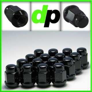 20 Black Closed End Bulge Acorn Lug Nuts/Wheel Lugs