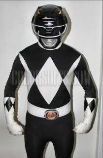 Mighty Morphin Power Rangers Black Power Ranger Costume Suit   v2