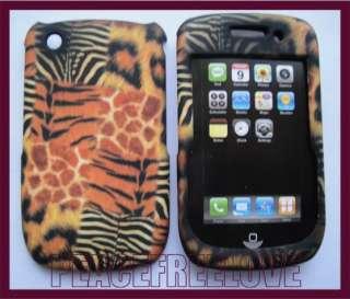 Leopard Zebra Print Hard Case Cover for BlackBerry Curve 3G 9300 9330