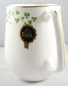 ROYAL TARA BONE CHINA IRELAND TRELLIS SHAMROCK MUG MADE IN IRELAND
