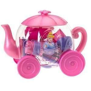 Princess Deluxe Cinderella Pumpkin Carriage Container with Tea Set