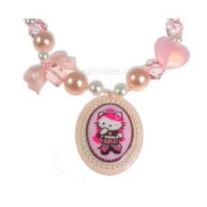 Tarina Tarantino Hello Kitty Pink Head Queen of Pink Ribbon Necklace